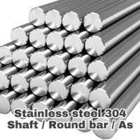 AS / STAINLESS AS / SHAFT / SMOOTH ROD HARD 16 mm x 150 Cm SUS 304