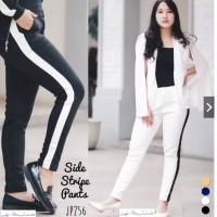 Side List / Stripe Scuba Pants / Celana Wanita Kekinian, 100% Termurah