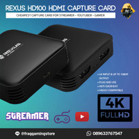 Rexus HDMI 4K Game Capture Card Stream and Record HD100