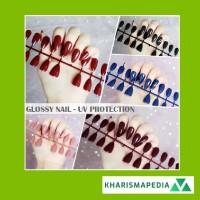 24 pcs / fake nails/ kuku palsu / nail art / Stiker kuku nail GLOSSY