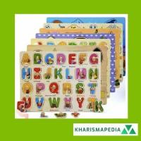 Puzzle Anak Kayu Knob Ukuran Besar Wooden Knob Puzzle Mainan Edukasi