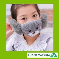 Masker Penutup Mulut Anti Debu Motif Kartun Boneka / Masker Penutup