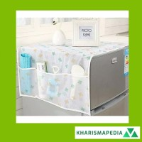 Taplak Meja Penutup Cover Kulkas Waterproof Dust Refrigerator Kantong