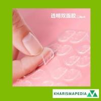 Kuku plastik jelly transparan pita dua sisi stiker dua sisi pakai pita