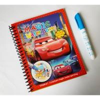 Buku Aktivitas Anak - Buku Mewarnai Anak dengan Pena Air : CARS