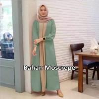8738 Baju muslim wanita mint baju gamis pastel model terbaru 8734