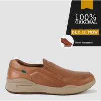 Sepatu Casual Slip On Sepatu Kickers Original Leather 3541T - Tan