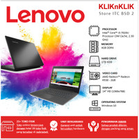 Laptop LENOVO IdeaPad 330-14IKB i3-7020U R530-2GB Win10 Onyx Black