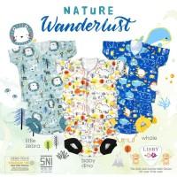 LIBBY Setelan MIXED Baju Bayi Lengan Pendek & Celana Pop 3-6 Bulan