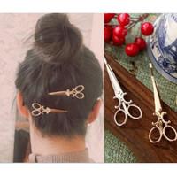 Hairpin Pin Jepitan Rambut GUNTING SCISSORS Unik Klip Aksesoris Wanita