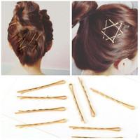 Jepitan Rambut 5 Pcs Bobby Hair Pin GOLD Korea Fashion HairAccessories