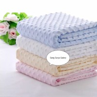 PROMO Selimut Bayi Premium Double Fleece Minky Blanket - Polkadot