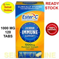 Stok Terbatas (USA) Ester C 24 Hour Immune Support 1000 mg 120 Tablets