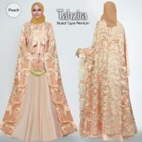 baju gamis wanita muslim cape tahzira 2 wrna gamis bordir mewah cantik
