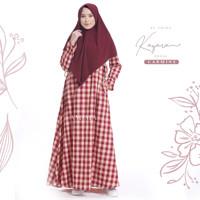 KAYARA DRESS by AMIMA - Gamis motif kotak gamis amima baju muslim