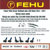 Paket bohlam watt besar Fehu plus LED Rush 2015 - 2017. Sinar putih