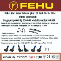 Paket bohlam watt besar Fehu plus LED untuk rush 2013 2014 Sinar putih