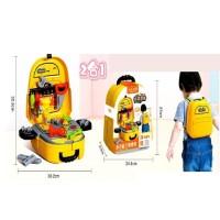 Mainan Anak Tukang Kayu Carpenter Tools Backpack 24 pcs 688-85A