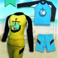Baju Renang Anak Laki-Laki dan Perempuan Dapat 1 Set (Baju&celana)