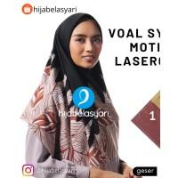 D10 Hijab Jilbab Kerudung Segi empat Voal Motif Jumbo Syari Umama