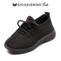 Sepatu Sekolah Hitam Anak Sepatu Sport Anak Gio Saverino ROCHESTER - 26