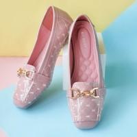 Flat Shoes Wanita Gio Saverino PARIS Best Fashion Casual Shoes - BLACK, 36