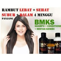ORIGINAL Paket Shampo Penumbuh & Penghitam Rambut 3in1 BMKS