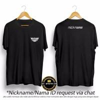 Kaos Distro MOBILE LEGENDS FREE REQUEST NICKNAME / ID NAME - Hitam, XXS