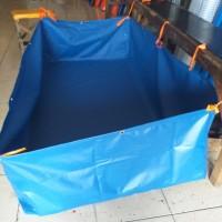 Terpal kolam kotak 2x1XT.50 cm bahan Orchid semi karet