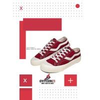 Sepatu Ventela Public Suede Maroon (Merah Maroon) - 40