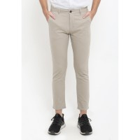 TRIPLE Celana Panjang Ankle Pant Slim Fit - Light Khaki