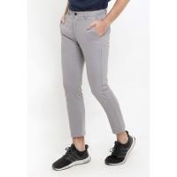 TRIPLE Celana Panjang Ankle Pant Slim Fit - Light Grey