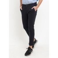 TRIPLE Celana Panjang Ankle Pant Slim Fit - Navy