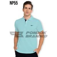 Polo Shirt / Nike Kerah / Kaos Kerah Biru Muda