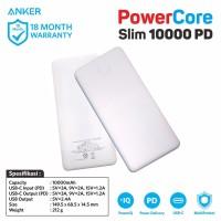 PowerBank Anker PowerCore Slim PD 10000 mAh White - A1231