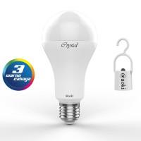 LAMPU LED 3 WARNA LAMPU EMERGENCY AC / DC SMART CRYSTAL AOKI AK 3C12W