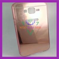 Case HP Bumper Slide Mirror Samsung J7 Kondom Trendy