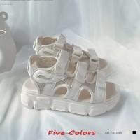 Pump T30/9015 Sandal Wanita Tinggi 5.5cm Musim Panas Kasual Sandals