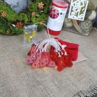 Lampu Kabel / Natal Bentuk Kaos Kaki Warna Merah untuk Dekorasi