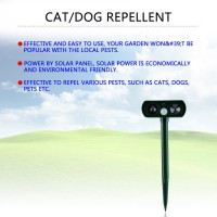 Sale! Ultrasonic Solar Power Pest Animal Repeller Garden Bat Cat Dog