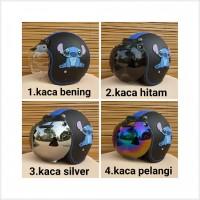 Grosir helm bogo dewasa gambar stitch warna hitam biru
