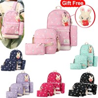 we HOT(Free Gift) Korea Tas Backpack Wanita Student School Bag