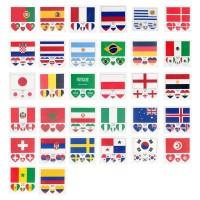 Dunia 2018 Stiker Temporer Lengan/Wajah/Tubuh Anti Air Model Bendera
