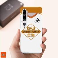 Casing case Xiaomi Mi Note 10 789 White Swansea City Logo