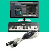 Kabel Konverter Interface MIDI USB IN-OUT PC ke Keyboard Musik