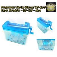 Alat Penghancur Kertas Manual CD Card Paper Shredder - SZ-123 - Blue