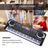 Keyboard Piano Elektronik 61 Kunci dengan Mikrofon untuk Anak