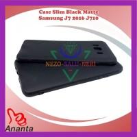Case HP Slim Fit Black Mate Matte Samsung J7 2016 J710 Kondom Trendy