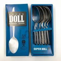 Super Doll Sendok Makan Stainless Steel Isi 6 pcs