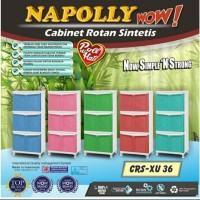 Lemari Napolly Plastik 3 Susun CRS XU36